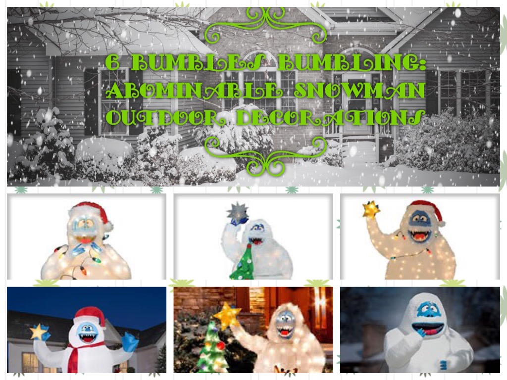 6 Different Bumble the Abominable Snowman Outdoor Christmas Decorations